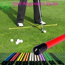 Golfclub-Eisen-Schwingen-Übungs-Praxis-Golf-zusätzliche Ausrichtungs-Stöcke