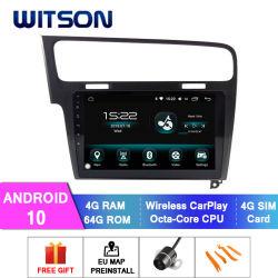 Android 10 DVD reproductor de coche para VW Golf 2013-2015 74GB de RAM 64 GB de memoria Flash Pantalla grande en el coche reproductor de DVD
