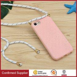 2020 l'environnement; Mono couleur paille biodégradable durable avec la chaîne de cas de téléphone mobile iPhone 11