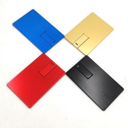 Kreditkarte USB-Flash-Laufwerke Kundenspezifische Logo Druck Visitenkarte USB-Stick Günstige Karte Pendrive