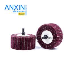 Roda da borboleta não tecidos com 6mm de rosca Shank com pano de lixamento como entrelaçamento para metais