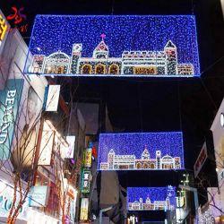 LED de exterior comerciais personalizados decorações de Natal dizeres luz de cruzamento de ruas