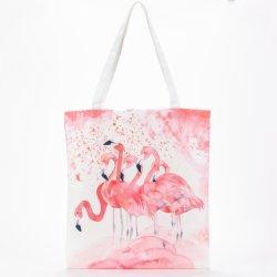 На заводе прямых оптовых Custom розовый шаблон Суон моды классический Canvas женская сумка супермаркет сувениры