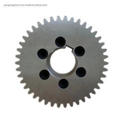 Custom Precision стали обработанной кованая сталь прямозубой цилиндрической шестерни высокой производительности нестандартных металлические шестерни