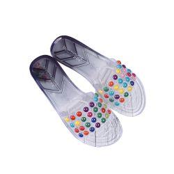 Bunte Großhandelsinnenform-flaches Frauen-Sommer-Sandelholz der steuerung-Hefterzufuhr-preiswerte Schuh-Dame-Jelly Casual PVC Fancy