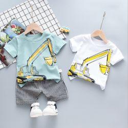 2pcs 아동복 남아용 토들러 의류 반팔 티셔츠 레저 정장