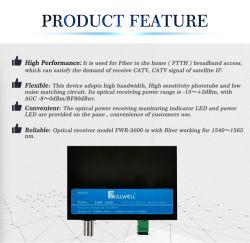 جهاز إرسال إشارات ضوئية FTTH CATV + SAT إذا كان عالي الأداء