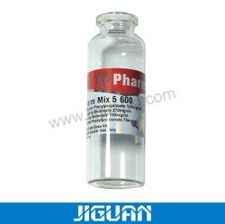 Frasco de vidro de injecção da tampa de plástico para o dispensário de flip