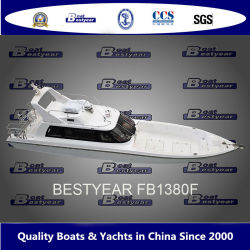 Bestyear 45 футов/13,8 м Высокоскоростная стекловолоконные рыболовного судна FB1380f