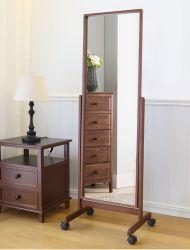 Caliente la venta de madera maciza extraíble Full-Length sencillo Espejo Espejo de maquillaje