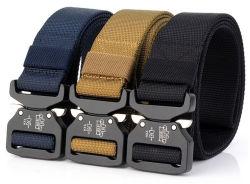 Cintura in tessuto di moda con logo personalizzato della nuova fabbrica di fibbie militari