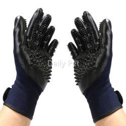 De goed Vaste het Verzorgen van het Huisdier Borstel van de Handschoen van het Vlekkenmiddel van het Haar voor Honden en Katten