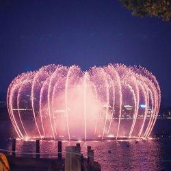 Großes Oudoor Musik-Wasser-Brunnen-Laserlicht