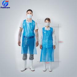 HDPE LDPE desechables PE Babero impermeable Oilproof Limpieza de Cocina con delantal de plástico para la fábrica.