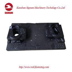 [شنس] [قت400-18] [كست يرون] فولاذ سكّة حديديّة قاعدة [تي بلت] لأنّ ثقيل مرفاع سكّة حديديّة [فستنينغ] نظامة
