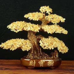 행운을 빕니다 자연적인 원석 나무는 훈장을%s 수정같은 나무를 잘게 썬다