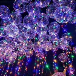 De duidelijke Plastic Ballons van de Bel met LEIDENE Lichte Levering voor doorverkoop