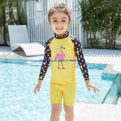 Crianças Swimsuit Cartoon Flamingos Animal 50 UV Kids calções de banho