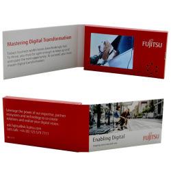 Популярные небольшого размера 2,4-дюймовый цифровой ЖК-видео плеер USB открытку, пустое имя видео карта