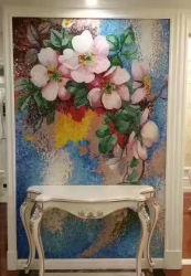 형식 배경 벽 그림 예술 장식무늬가 든 유리 제품 결정 모자이크