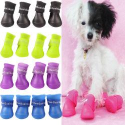 4PCS de Producten van het huisdier maken Schoenen van de Hond van het Huisdier van de Regen van Laarzen de Rubber waterdicht