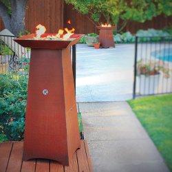 火ピットのCortenの鋼鉄BBQ /Gardenのバーベキューを調理する円Plancha
