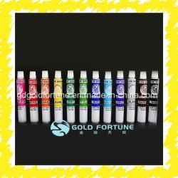 Embalaje de aluminio de tubo para pintura de aceite, pegamento, de tinte de Cabello