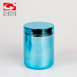13oz de Lege Verchroomde Fles van uitstekende kwaliteit van de Rang van het Voedsel Plastiek met Deksel