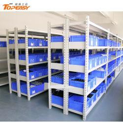 El tramo largo de prestaciones medias Estanterías de almacén de acero con una caja de rack