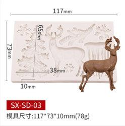 Nahrungsmittelgrad-Weihnachtsbaum formte Süßigkeit-Schokoladen-Kuchen-Backen-Silikon-Form China
