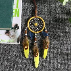 Adornos Artesanales Dreamcatchers Wind Chimes Rainbow Feather captores de ensueño para Regalos boda decoraciones Home