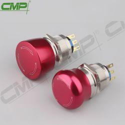 Tasten-roter Notschalter des CMP-Metall22mm