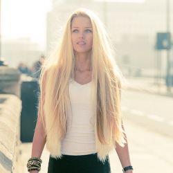 Virgem Premium Remy Tecelagem de cabelo sedoso 18polegadas loira Color