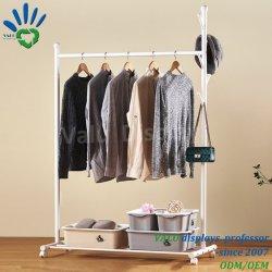 Fußboden einzelner Pole kleidet Zahnstangen-die faltende Haushalts-Kleidung, die Rod-Schlafzimmer-Kleidung-Zahnstangen-Innenkleidung-Aufhängung trocknet