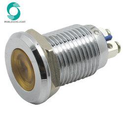 إشارة مصباح LED لمؤشر LED معدني مسطح معدني وملون 12 مم مصباح دليلي