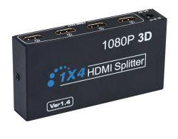 Full HD 1080P Répartiteur HDMI 1X4 Distributeur vidéo HDMI ver 1.4