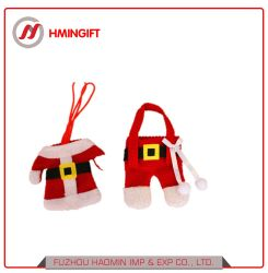 Hersteller-Rot-Filz-Weihnachtstisch verzieren nichtgewebten Sankt-Tischbesteck-Halter