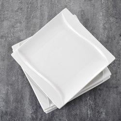 Piatto bianco quadrato all'ingrosso dei piatti per il ristorante di Hotel&