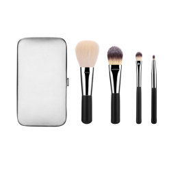 4PCS Borstel van de Make-up van de Borstel van de reis de Vastgestelde met de Doos van de Portefeuille