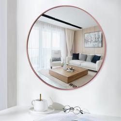 Miroir de mur décoratif Mounetd ronde Flat profonde miroir de maquillage pour le bain de fournitures