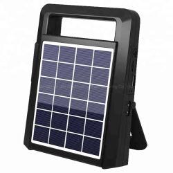 Panel solar portátil 2W Radio FM con música de la tarjeta SD TF USB Reproductor de MP3