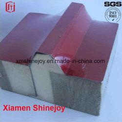 Cámaras Frigoríficas PU revestimientos de paneles sándwich de acero de pared decorativos de la construcción de materiales de construcción
