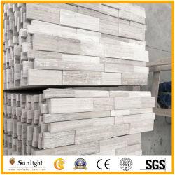 Le bois blanc en marbre blanc en marbre/bois/Blanc/gris pierre de la culture de marbre