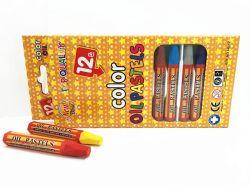 12 Farben-Öl-Pastellhexagon-Typ