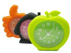 Kid's coloridos promocionais novidade Bonitinha Mini Relógio de Alarme de Silicone