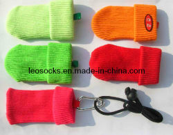 OEM Customized Fashion Good Quality Mobile Phone Sock con Lanyard