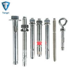Fixations ASTM DIN SUS304 SUS316 Matériel de construction de la construction de la rondelle Vis et écrou de l'étrier fileté en acier inoxydable plaqué zinc HDG ancre en béton le béton en acier