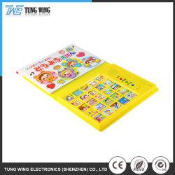 Красочные электрический АБС игрушки в области образования детей звука музыкальные книги