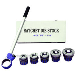 5 Die Chefes 1-1/4 polegadas de Ratchet Die Stock (390020)