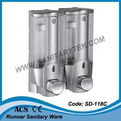 Двойной пластика ABS в стену жидкого мыла диспенсер (УР-118C)